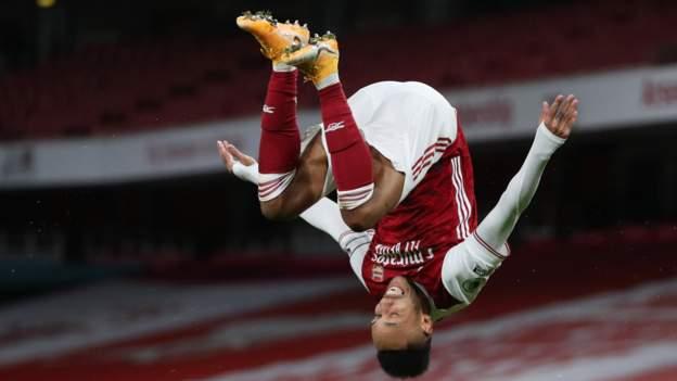 Arsenal 3-0 Newcastle: Pierre-Emerick Aubameyang and Bukayo Saka score for the Gunners - bbc