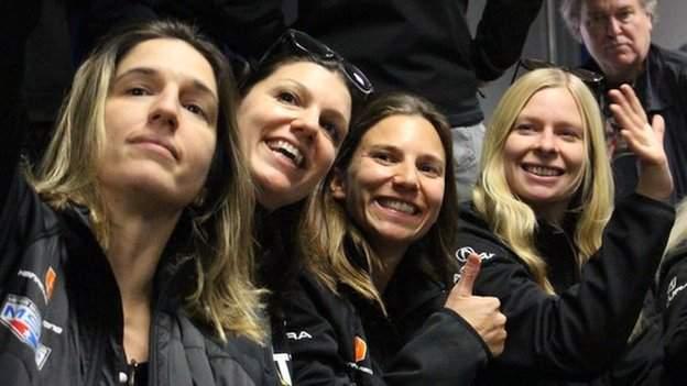 Kat Legge on the Acrua CAT Daytone 24 Hours team