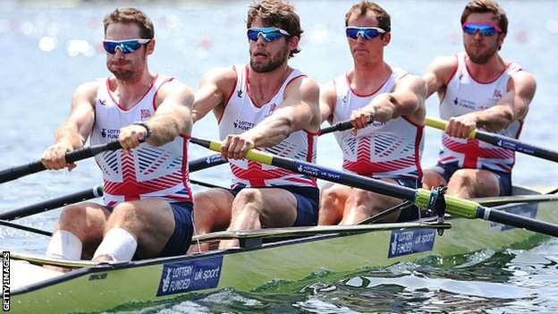 The GB men's four at last month's World Cup