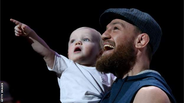 McGregor brought his son Conor Jr along to the open workout