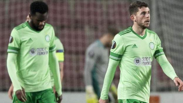 Sloppy Celtic out of Europa League after 4-1 loss to Sparta Prague - bbc