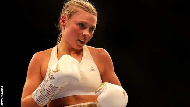 in_pictures British boxer Shannon Courtenay during her fifth professional fight