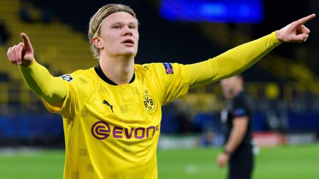 Borussia Dortmund 3-0 Club Bruges: Erling Braut Haaland & Jadon Sancho score - bbc