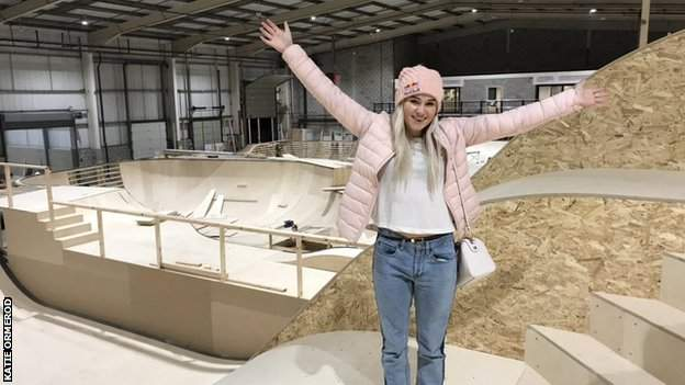 Katie Ormerod at the new Graystone Action Sports Academy in Manchester