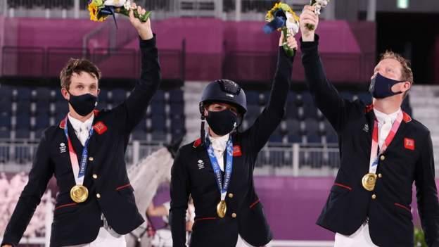 GB celebrate team eventing gold McEwen silver