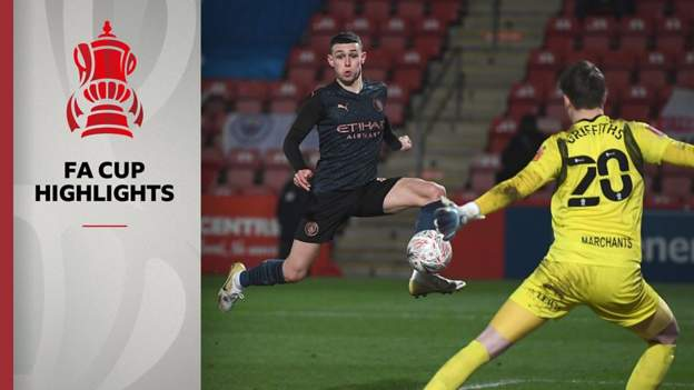 FA Cup: Cheltenham Town 1-3 Manchester City highlights - bbc