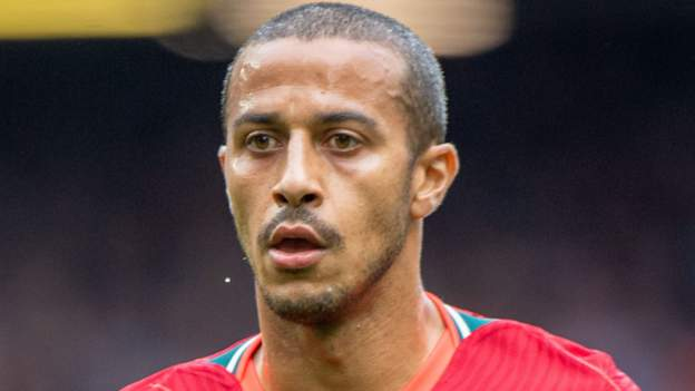 Liverpool midfielder Thiago Alcantara faces at least two games out with calf injury