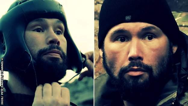 Tony Bellew in a boxing match in SAS Who Dares Wins