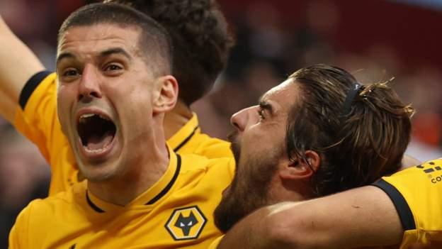 Aston Villa 2-3 Wolverhampton Wanderers: Ruben Neves secures dramatic comeback win - bbc