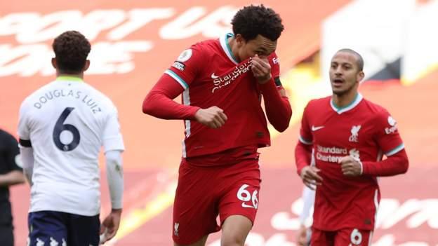 Liverpool score late winner to beat Villa
