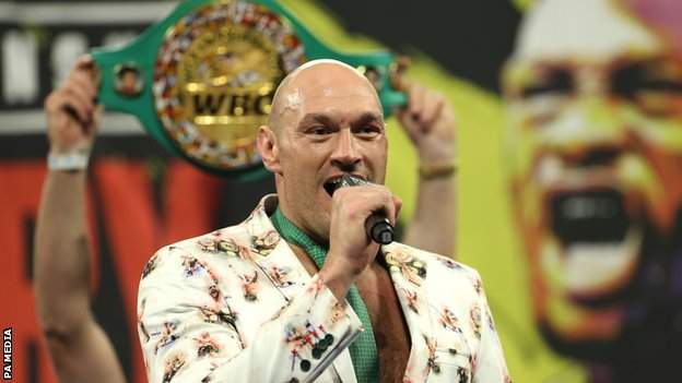 Fury won the WBC world heavyweight title from Deontay Wilder in February