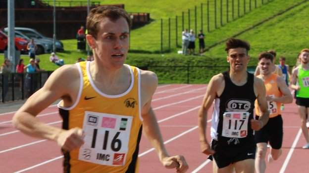 Matt Wigelsworth came home first ahead of Andrew Coscoran in the men's 1500m at last year's Belfast Milers Meet