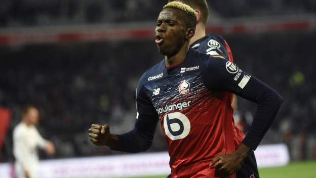 Napoli seal record deal for Nigeria striker Victor Osimhen - BBC Sport