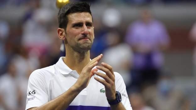 US Open 2021: Tearful Novak Djokovic thanks New York crowd for ovation - BBC Sport