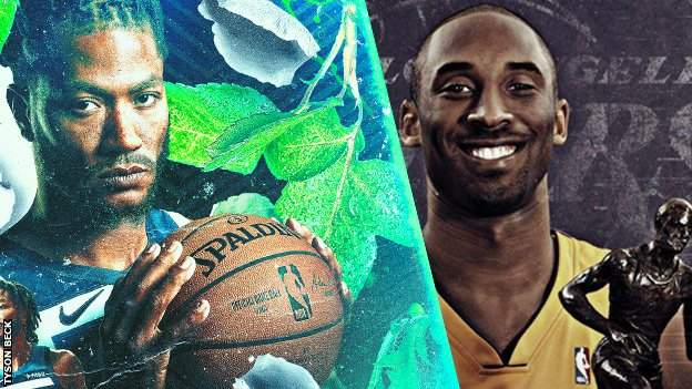 Derrick Rose and Kobe Bryant by Tyson Beck