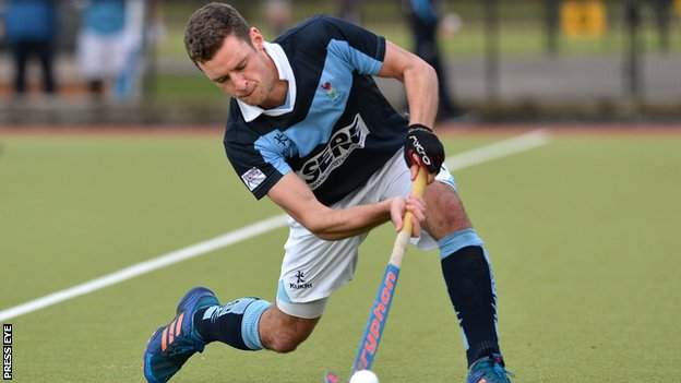 Jonny Bell looked set to win an Irish Men's Hockey League medal with Lisnagarvey