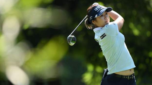Evian Championship: Jeongeun Lee6 equals major record with 10-under-par round of 61