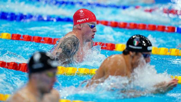 Tokyo Olympics: Great Britain win record eighth swimming medal with men's 4x100m relay silver