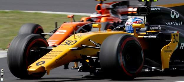 Jolyon Palmer in action for Renault