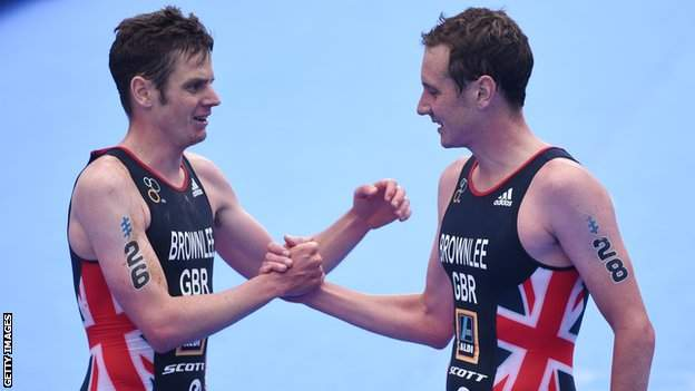 Jonny Brownlee and Alistair Brownlee