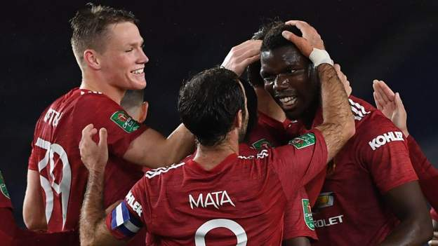 Brighton 0-3 Man Utd: Paul Pogba strikes as United reach Carabao Cup quarters - bbc