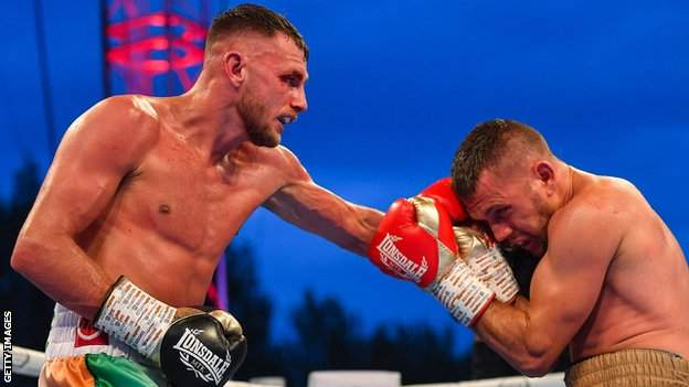 Sean McComb (left) has won all 10 of his professional bouts