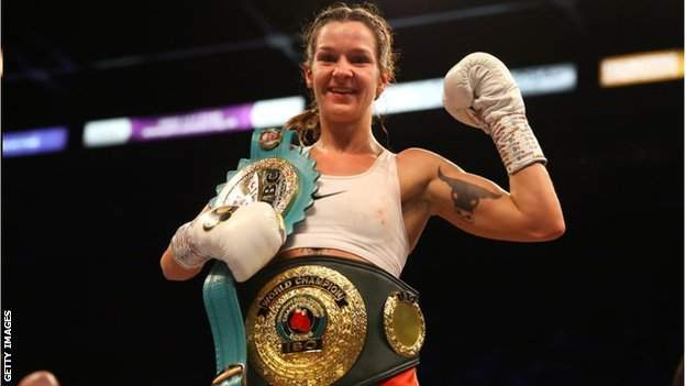 Britain's WBC super-featherweight world champion Terri Harper