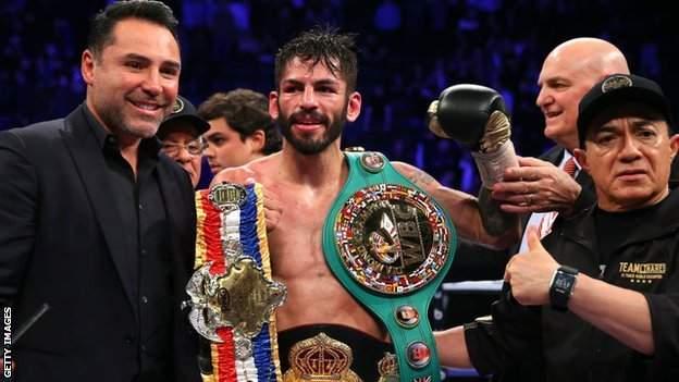 Linares holds the WBA title, WBC Diamond belt and Ring Magazine title