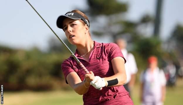 English women's golf player Georgia Hall