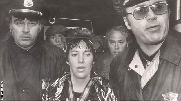 Joan Benoit after winning the 1979 Boston Marathon,