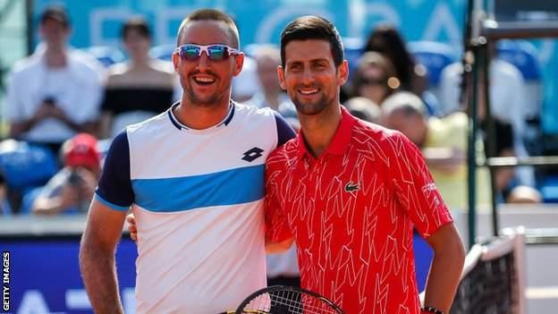 Novak Djokovic and Viktor Troicki