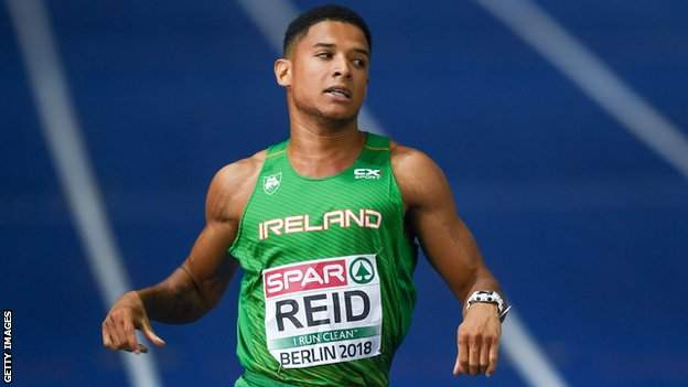 Leon Reid in action in the European Championship 200m final in 2018