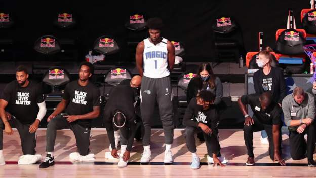 NBA: Orlando Magic`s Jonathan Isaac is first player not to kneel for anthem since restart