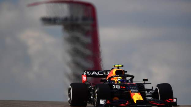 Max Verstappen frustrated by Lewis Hamilton as Sergio Perez top in US GP practice