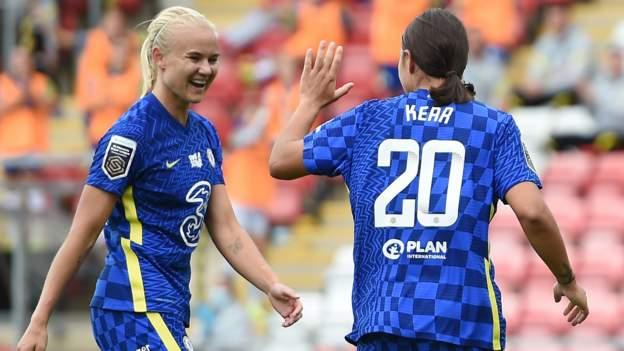 Manchester United 1-6 Chelsea: Peringkat Kirby kelima puluh WSL bertujuan untuk mengambil tegas thumbnail