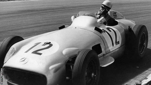 Stirling Moss at the 1955 British Grand Prix