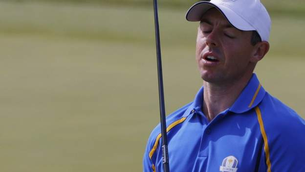 Ryder Cup: US dominate Europe in Friday's first session at Whistling Straits