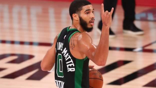 NBA Eastern Conference finals: Boston Celtics win to cut gap on Miami Heat thumbnail