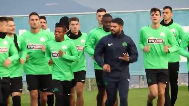 Mohamed Katana training with Panathinaikos