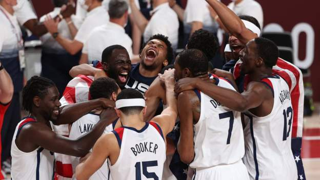 Tokyo Olympics: Team USA beat France 87-82 to claim fourth straight gold medal