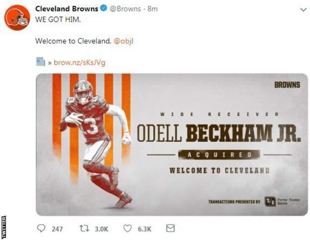 Cleveland Browns tweet