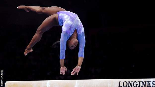 Biles won four gold medals and one bronze at Rio 2016