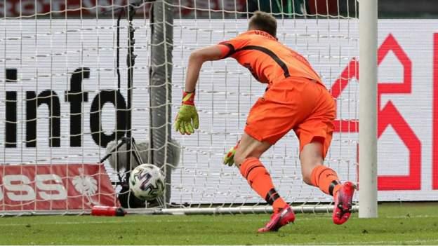 Lukas Hradecky howler among six goals as Bayern Munich beat Bayer Leverkusen in German Cup final