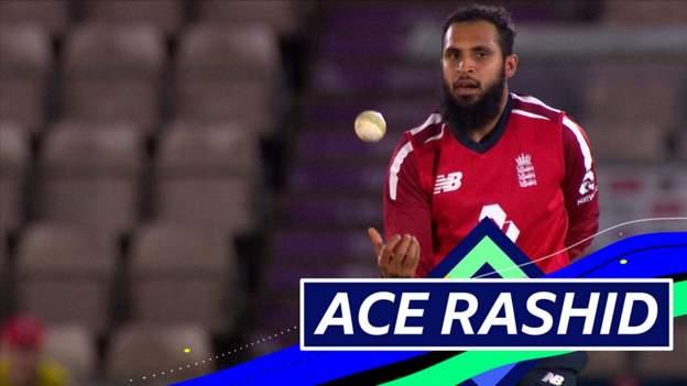 England v Australia: Adil Rashid takes 3-21 thumbnail