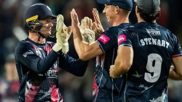T20 Blast final: Kent Spitfires beat Somerset to lift trophy for second time
