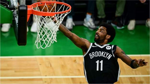 NBA play-offs: Fan arrested after bottle thrown at Brooklyn Nets' Kyrie Irving - BBC Sport