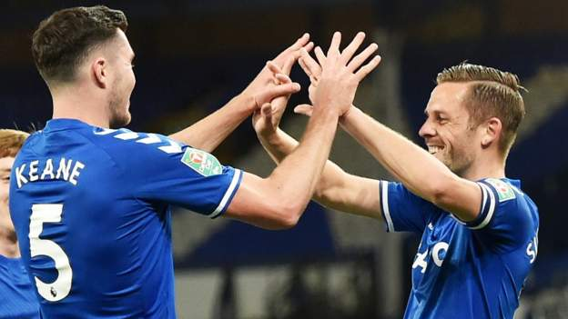 Everton 3-0 Salford City: Keane, Sigurdsson and Kean score in Carabao Cup thumbnail