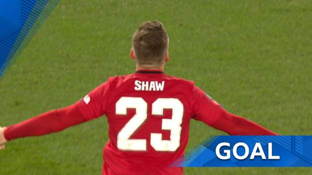 FA Cup: Luke Shaw's shot loops into the net as Manchester United take the lead thumbnail