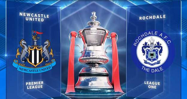 FA Cup: Newcastle United 4-1 Rochdale highlights