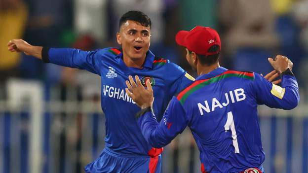 Afghanistan thrash Scotland by 130 runs at T20 World Cup